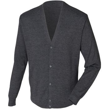 textil Hombre Chaquetas de punto Henbury HB722 Gris Jaspeado