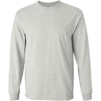 textil Hombre Camisetas manga larga Gildan 2400 Gris ceniza