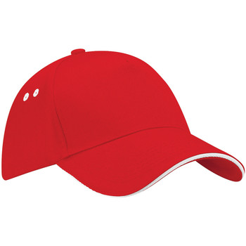 Accesorios textil Gorra Beechfield B15C Rojo/Blanco