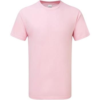 textil Hombre Camisetas manga corta Gildan H000 Rosa Claro