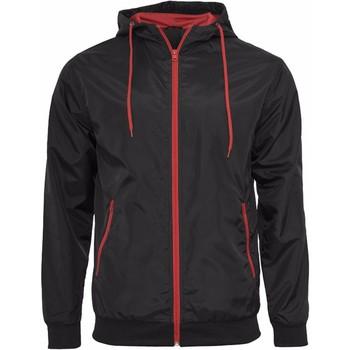textil Hombre cazadoras Build Your Brand Wind Runner Negro/Rojo