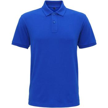 textil Hombre Polos manga corta Asquith & Fox AQ005 Azul eléctrico