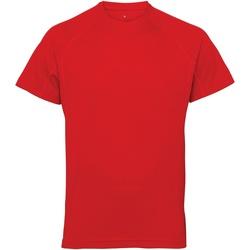 textil Hombre Camisetas manga corta Tridri TR011 Rojo intenso