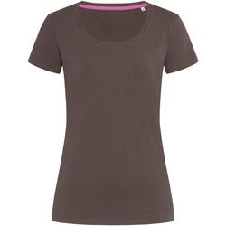 textil Mujer Camisetas manga corta Stedman Stars  Chocolate Oscuro