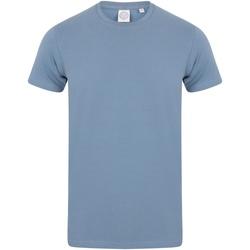 textil Hombre Camisetas manga corta Skinni Fit SF121 Piedra azul