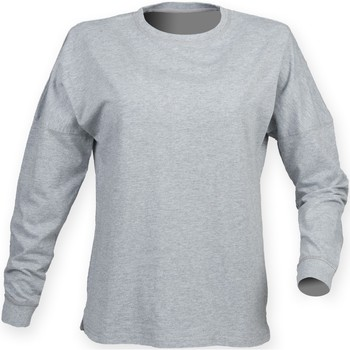 textil Hombre Camisetas manga larga Skinni Fit Slogan Gris