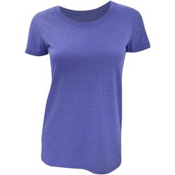 textil Mujer Camisetas manga corta Bella + Canvas BE8413 Azul Jaspeado