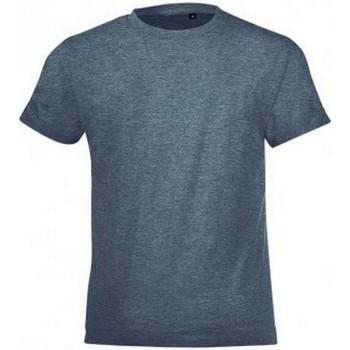 textil Niños Camisetas manga corta Sols 01183 Vaquero jaspeado
