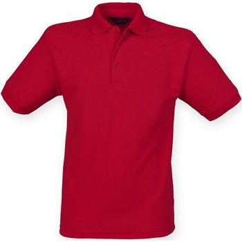 textil Hombre Polos manga corta Henbury HB400 Rojo Vintage