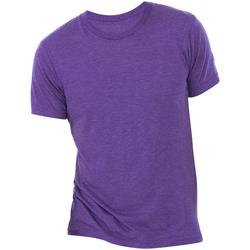 textil Hombre Camisetas manga corta Bella + Canvas CA3413 Morado jaspeado