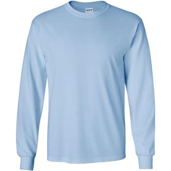 textil Hombre Camisetas manga larga Gildan 2400 Azul claro