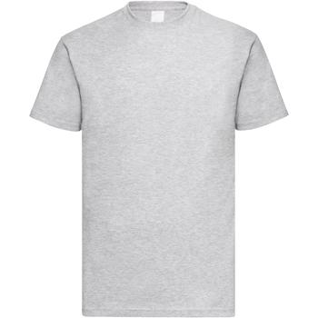 textil Hombre Camisetas manga corta Universal Textiles 61036 Gris piedra