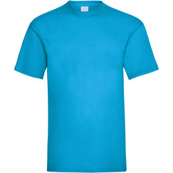textil Hombre Camisetas manga corta Universal Textiles 61036 Cian