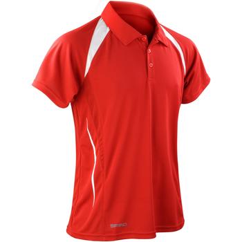 textil Hombre Polos manga corta Spiro S177M Rojo/Blanco