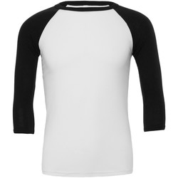 textil Hombre Camisetas manga larga Bella + Canvas CA3200 Blanco/Negro