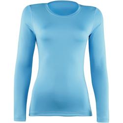 textil Mujer Camisetas manga larga Rhino  Azul claro
