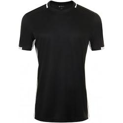 textil Hombre Camisetas manga corta Sols 01717 Negro/Blanco