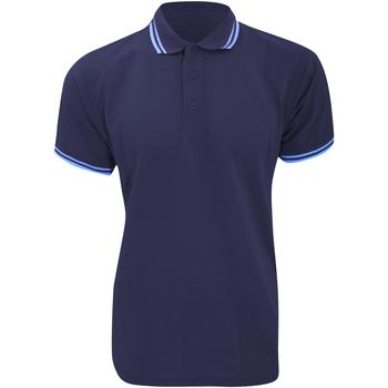 textil Hombre Polos manga corta Kustom Kit KK409 Azul marino/ Azul claro