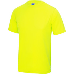 textil Niños Camisetas manga corta Awdis JC01J Amarillo Eléctrico