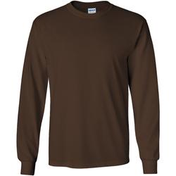textil Hombre Camisetas manga larga Gildan 2400 Marrón chocolate
