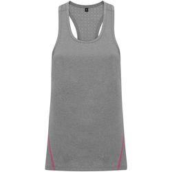 textil Mujer Camisetas sin mangas Tridri TR041 Plata Jaspeado