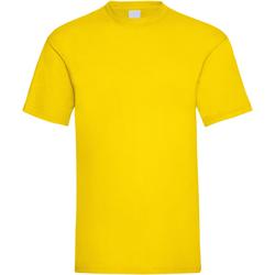 textil Hombre Camisetas manga corta Universal Textiles 61036 Amarillo Brillante