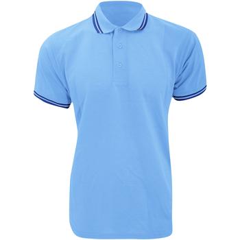 textil Hombre Polos manga corta Kustom Kit KK409 Azul claro/ Azul marino