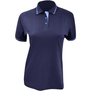 textil Mujer Polos manga corta Kustom Kit Mellion Azul marino/ Azul claro