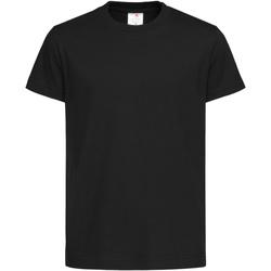 textil Niños Camisetas manga corta Stedman  Negro opal