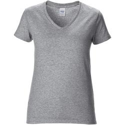 textil Mujer Camisetas manga corta Gildan GD015 Gris sport