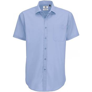 textil Hombre Camisas manga corta B And C SMP62 Azul Business