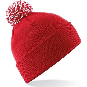 Accesorios textil Niña Gorro Beechfield Snowstar Rojo Clásico/Blanco