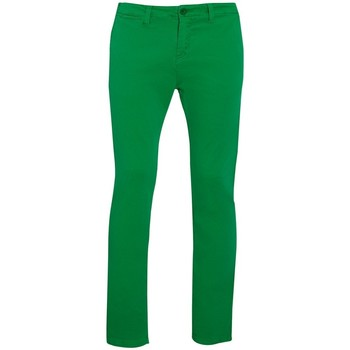textil Hombre Pantalones chinos Sols 01424 Verde césped