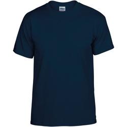 textil Hombre Camisetas manga corta Gildan DryBlend Azul marino