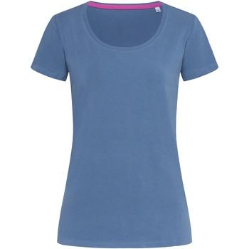 textil Mujer Camisetas manga corta Stedman Stars  Azul Denim