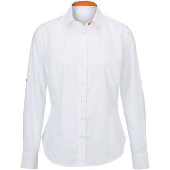 textil Mujer Camisas Alexandra AX060 Blanco/Naranja