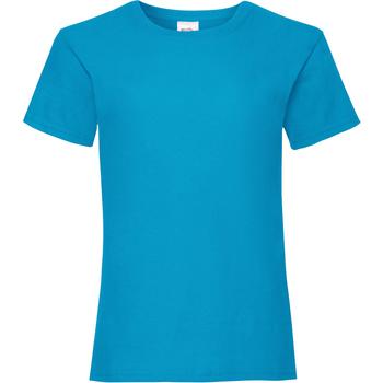textil Niña Camisetas manga corta Fruit Of The Loom Valueweight Azul celeste