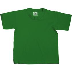 textil Niños Camisetas manga corta B And C TK300 Verde botella