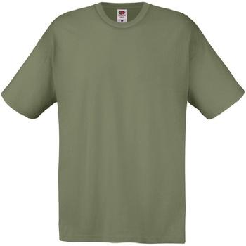 textil Hombre Camisetas manga corta Fruit Of The Loom 61082 Oliva clásico