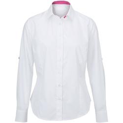 textil Mujer Camisas Alexandra AX060 Blanco/Rosa