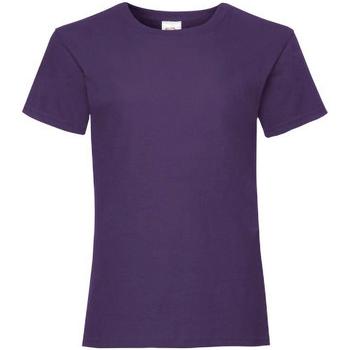 textil Niña Camisetas manga corta Fruit Of The Loom 61005 Púrpura