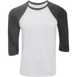 textil Hombre Camisetas manga larga Bella + Canvas CA3200 Blanco/Gris oscuro