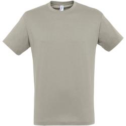 textil Hombre Camisetas manga corta Sols 11380 Gris Claro