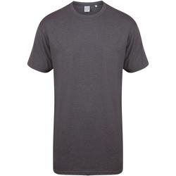 textil Hombre Camisetas manga corta Skinni Fit Dipped Hem Gris jaspeado