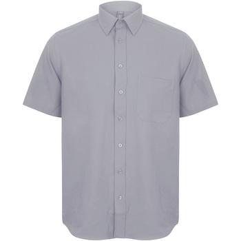 textil Hombre Camisas manga corta Henbury HB595 Gris pizarra