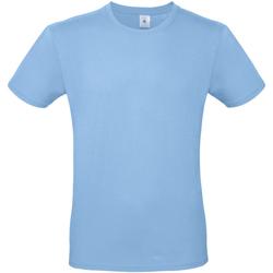 textil Hombre Camisetas manga corta B And C TU01T Azul Cielo
