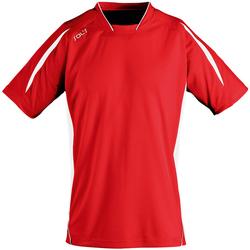 textil Hombre Camisetas manga corta Sols Maracana Rojo/Blanco
