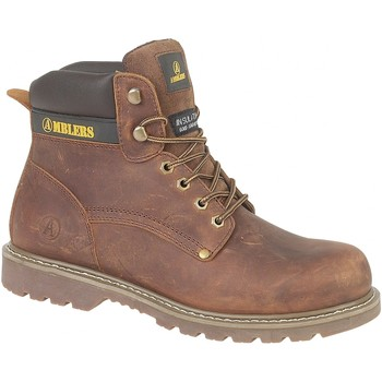 Zapatos Hombre Botas de caña baja Amblers Dorking Mens Boot Marrón