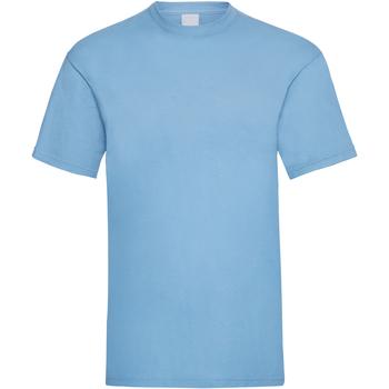 textil Hombre Camisetas manga corta Universal Textiles 61036 Azul claro