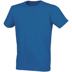 textil Hombre Camisetas manga corta Skinni Fit SF121 Azul jaspeado
